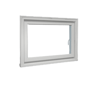 closed double hung window