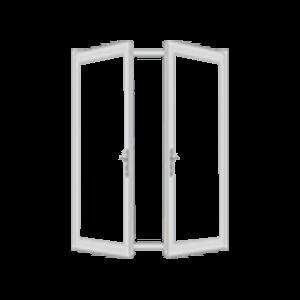 open double hung window