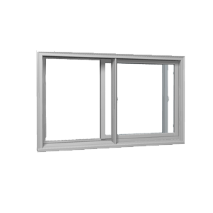 open double hung window