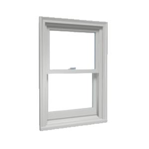 closed single hung window