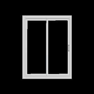 closed single hung window